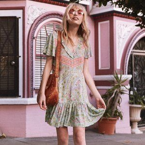 spell and the gypsy City Lights Mini Dress